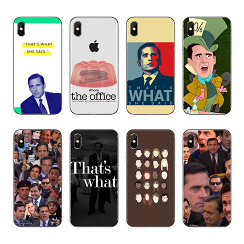 Капа де твердый матовый пластик Michael Скотт O Escritorio Engracado Юмор Тампа сделать телефоны celular Para iPhone 4 5 6 7 8 X плюс