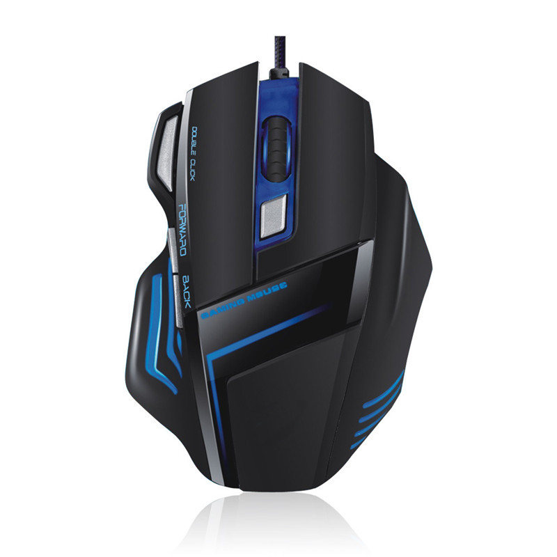 Wired Gaming Mouse 2000 DPI LED Backlight Ergonomic Mouse Gamer 6 Buttons USB Computer Mice For PC Laptop Desktop original zowie gear fk2 fk 1 fk1 gaming mouse usb wired 3200dpi optical ergonomic zowie mouse mice for cs fps gamer