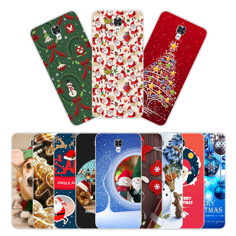 for LG X Screen 4.93 inch Silicone Phone Cover for LG X View Full Protection Shell for LG K500N K500DS Christmas Case Covers