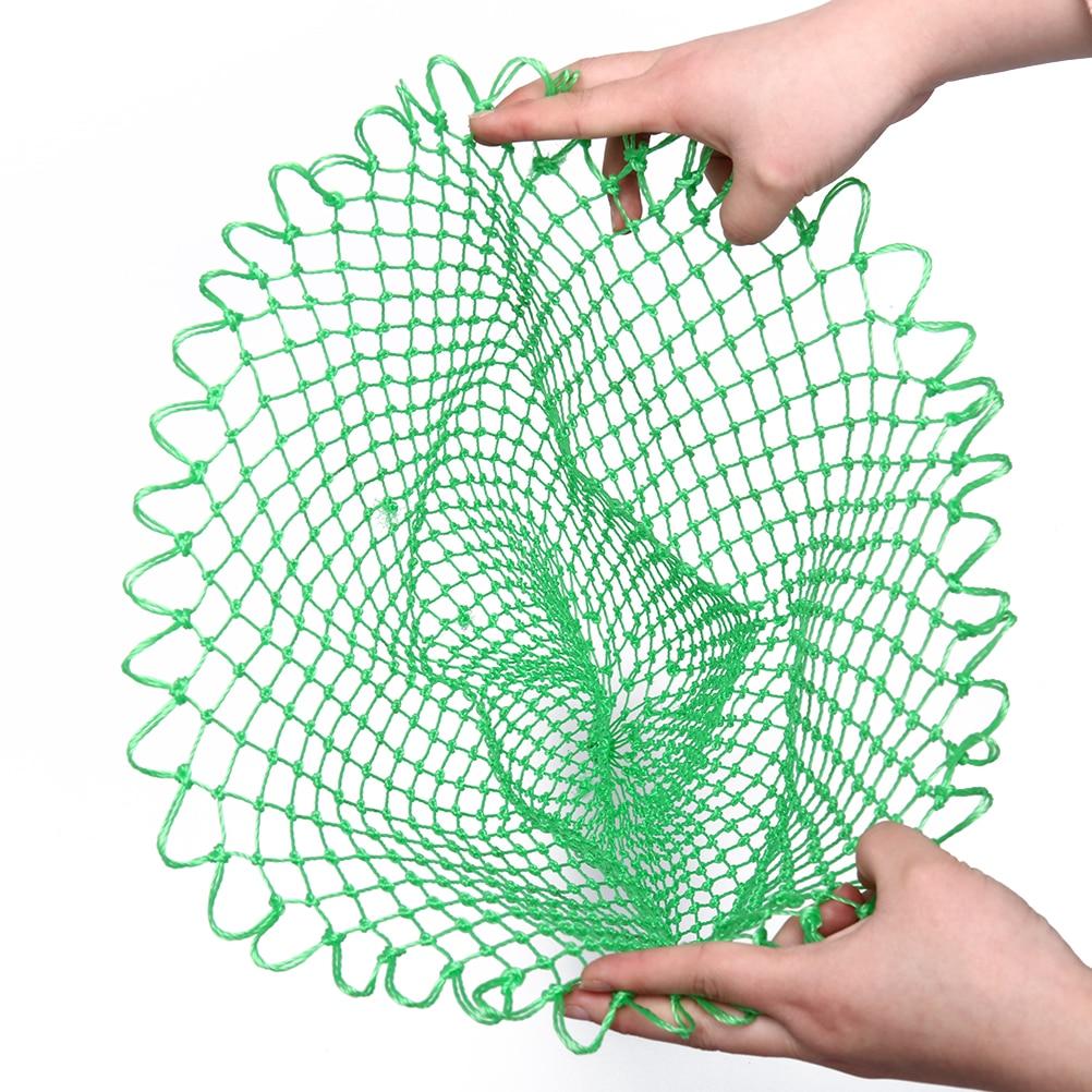 Naylon yeşil balıkçılık ağları balıkçılık katlanabilir eşkenar dörtgen örgü delik katlanır daldırma Net 35/45/70 cm