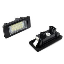 2 предмета светодио дный огни автомобиля для BMW e60 номерной знак свет лампы для BMW E39 M5 E5 E90 E90 E92 E93 E70 E71 X5 X6 M3