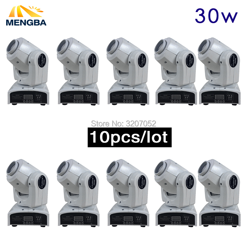 New 10pcs Stage Disco light 30W LED mini moving head Light 9/11 channels stage lights effect Dmx 512 Sound Control Auto Rotat led 30w gobo light 30w led spot moving head 30w dj disco light dmx effect stage lighting party holiday lights
