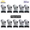 New 10pcs Stage Disco Light 30W LED Mini Moving Head Light 9 11 Channels Stage Lights