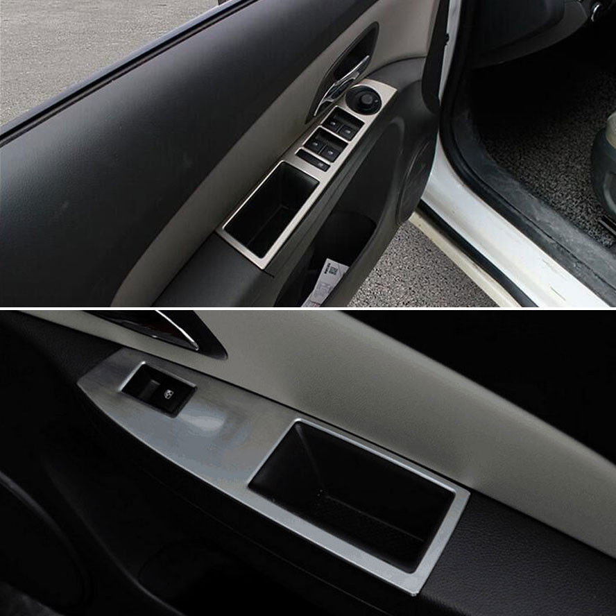 Interior Door Window Switch Adjust Lift Control Cover Trim Armrest Decor Car Styling Sticker For Chevrolet Chevy Cruze 2009 2014