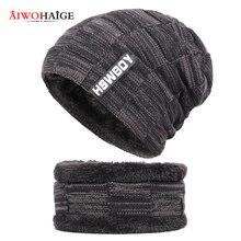 Knitted Hat Mask Scarf Caps Beanies-Hats Bonnet Gorras Skullies Warm Baggy Women