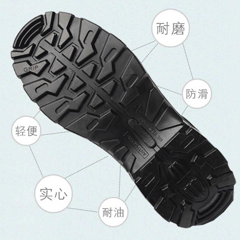 Mannen Veiligheid Schoenen Bouw Schoenen Stalen Neus Werkschoenen Comfortabele Onverwoestbaar Lederen Schoenen Punctie Proof
