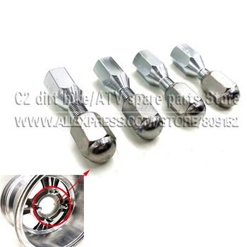Akcesoria atv quad aluminiowa obręcz 10 #8222 12 #8221 14 #8222 śruba koła 10mm M10 * 1 25 tanie i dobre opinie Felgi atv wheel nuts steel Pit Pro Racing