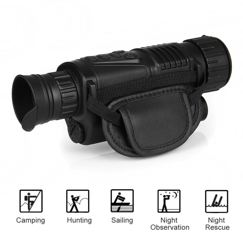 5MP 5×40 Digital Night Vision Monocular 200m Range Take Photos Video 1.44″ TFT LCD IR Infrared Scope 4GB SD Card+One Battery