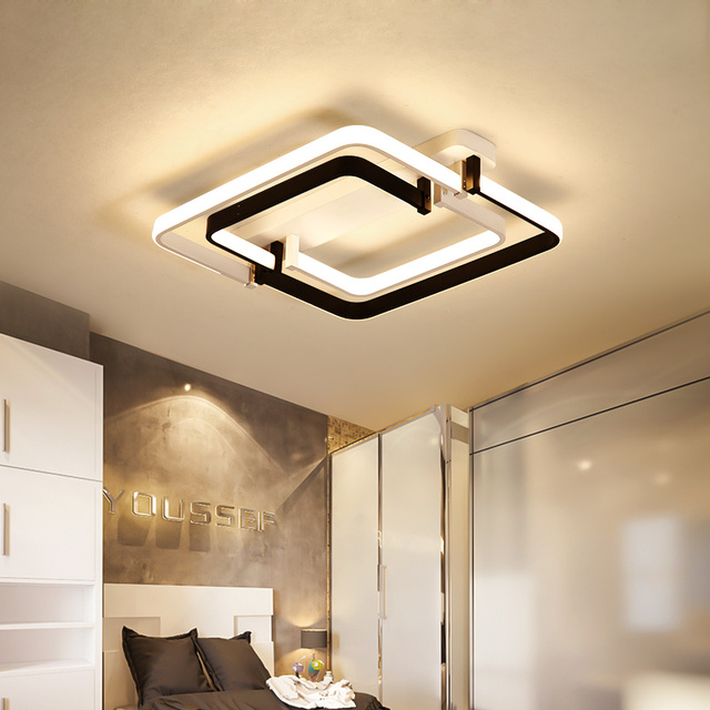 Chandelierrec Modern Led Ceiling Lights For Living Room Bedroom Decor Overhead Lighting Lamp Plexigl Fixtures
