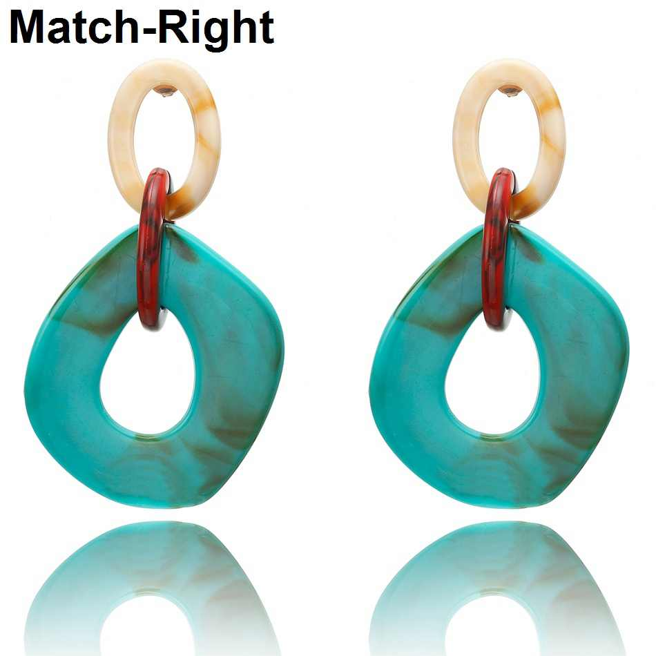 2019 Women Acrylic Minimalist Earrings Charm Statement Earring Pendant Fashion Jewelry Gifts Pendientes Brincos amazing price