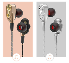 цена на Earphones Headphones Bass Dual Drive Stereo In-Ear Earphones With Microphone Computer Earbuds For Phone Sport Headsets