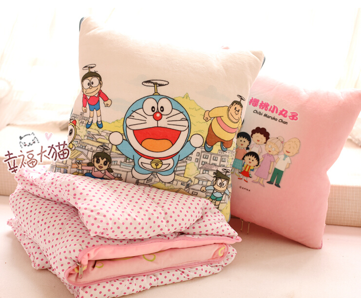 Plush 1pc 100*150cm cartoon Chibi Maruko Chan Doraemon soft coral velvet car air conditioning baby blanket cushion stuffed gift gift fruit style watermelon pineapple grapes mcdull pig soft coral velvet baby blanket cushion hand warm stuffed toy gift 1pc