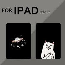 Ultra-thin Cartoon Case for iPad mini 1 2 3 4 Smart Cover Triple Folding New air 9.7 2017 2018+Touch Pen