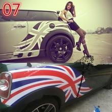 Прохладный Британский национальный флаг двери линия талии авто стикер для BMW Mini медь земляк R55 R56 F55 F56 Z2CA821