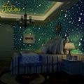 No tejido Rollo de Papel de Estrellas Y La Luna Luminosa Fluorescente de Techo del Dormitorio Sala de Niños Y Niñas Wallpaper decoración