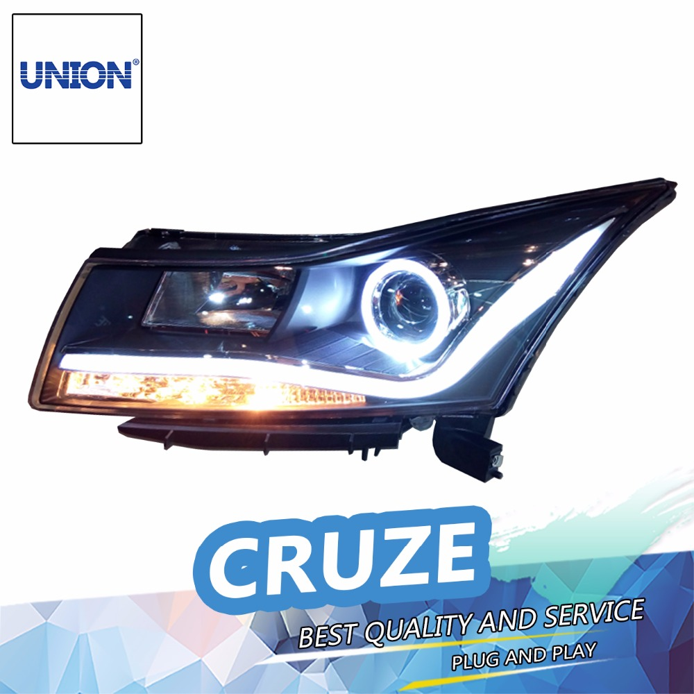 Car Styling Head Lamp case for 2009-2014 Chevrolet Cruze Headlights LED Headlight DRL Lens Double Beam Bi-Xenon HID Accessories 2014 hotsale silicon car key cover for chevrolet cruze 2009 2014 sedan hatchback accessories car key cover case