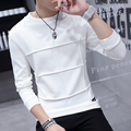 2016 autumn mens extended t shirt long sleeve black white rock punk extra long top night club clothes