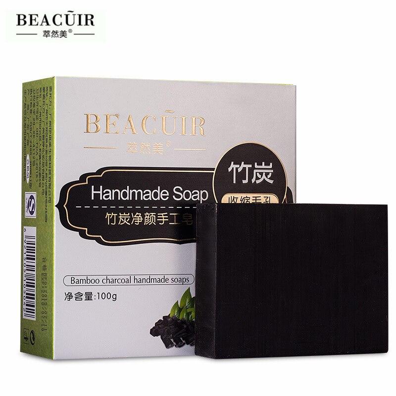 Natural Bamboo Charcoal Handmade Soap Skin Care Treatment