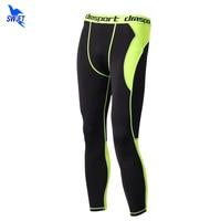 Mesh-stoff Patchwork Männer Compression Laufhose Fitness Yoga Hosen Leggings Gym Jogging Trainning Hosen Workout Hose