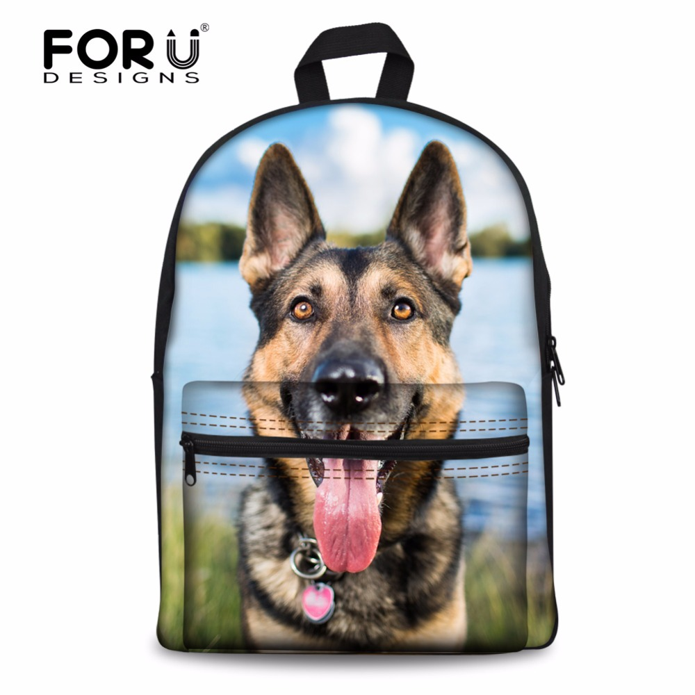 FORUDESIGNS 2017 Preppy School Bags For Teenager Boys Girls Funny 3D Husky Dog Women Men Backpack