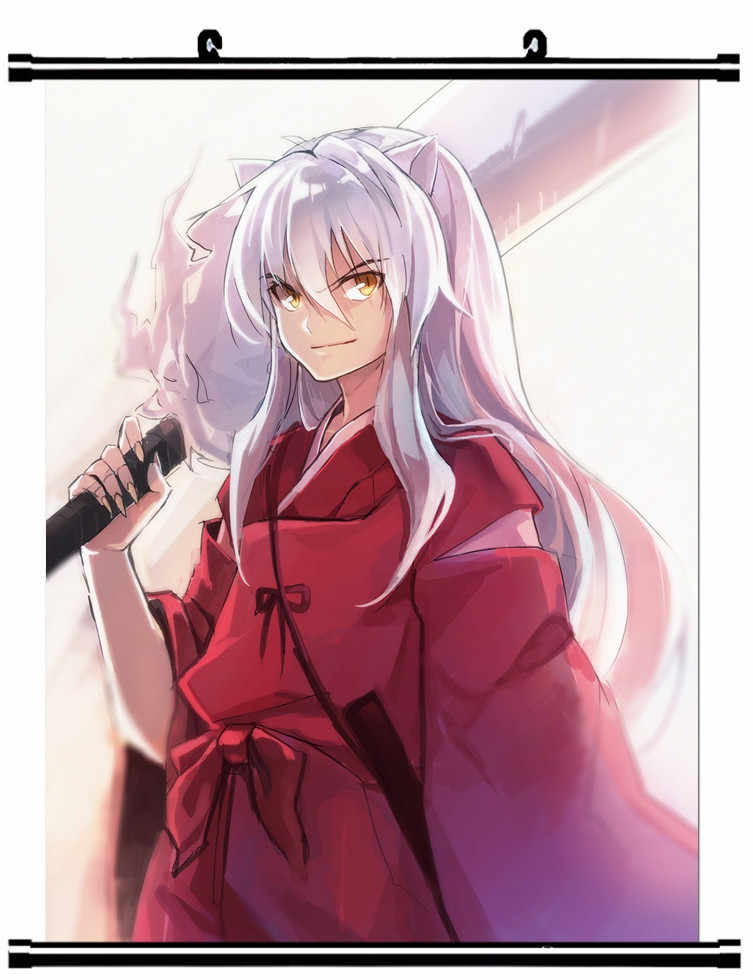 Japanese Decorative Pictures Anime Inuyasha Izayoi Miroku Sango Rin Mugenobyakuya Home Decor Wall Scroll Poster