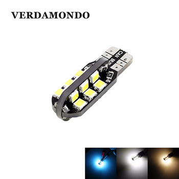 1Pcs W5W T10 194 168 2835 24 SMD Car Led Bulbs Side Wedge Dome Light Reading Turn Signal Lamp White Warm White Iceblue 12V image