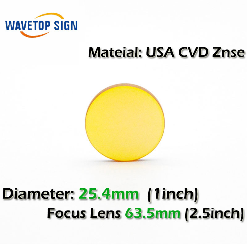 free shipping USA CVD ZnSe CO2 Laser Focusing Lens Dia. 25.4mm FL 63.5mm use for Cutting Engraving Machine Accessories Carving usa cvd znse focus lens dia 28mm fl 50 8mm 2 for co2 laser engraving cutting machine free shipping