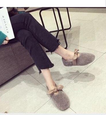 Lapin 2018 Chaussures Plus Sauvage marron Fourrure Nouvelle Coton Femmes Velours Cheveux Version Hiver noir Bottes Coréenne Beige De Neige Sac La OIfqzn5f