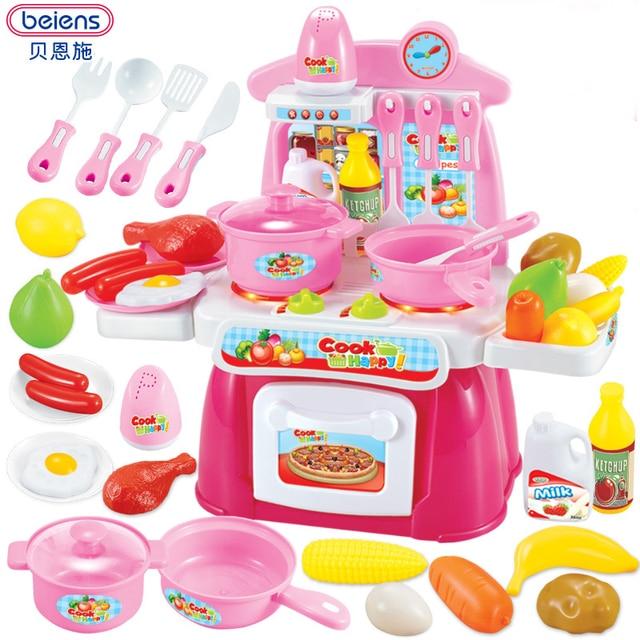 Beiens kitchen children 22PCS Pretend Play Baby kitchen playset ...