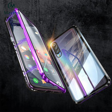 Mzxtby 360 Luxury Full Magnetic Front+back Double Side Metal Glass Case for Xiaomi Mi 9 Se Redmi Note 7 K20 Pro Glass Cover Case(China)