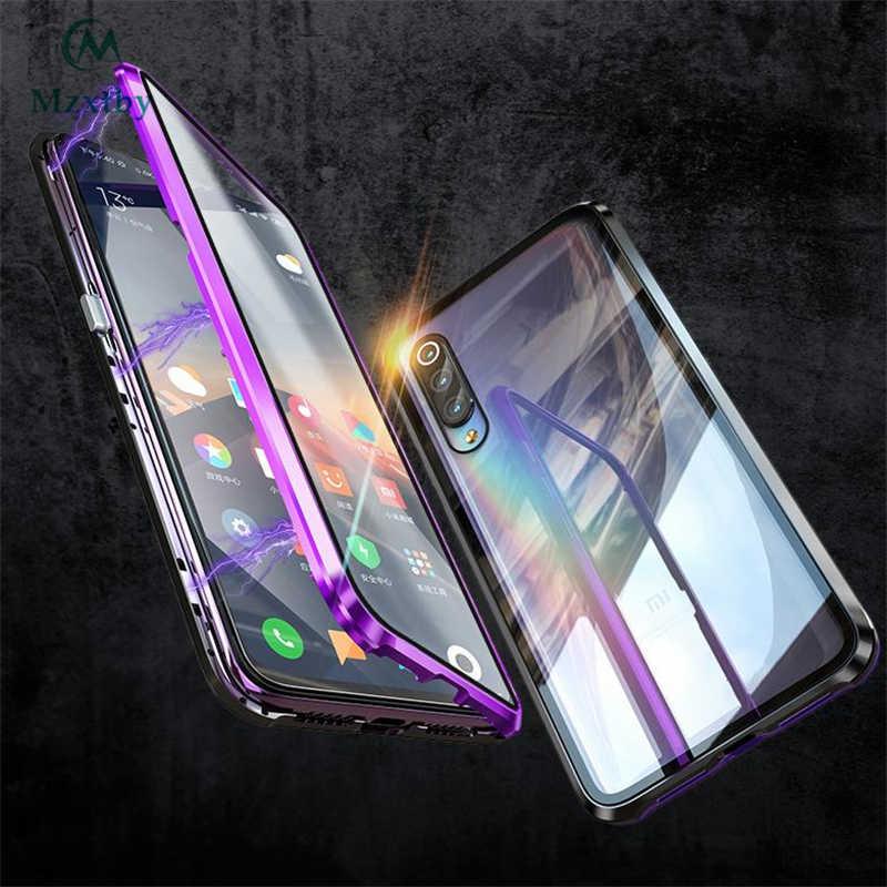 Mzxtby 360 lujosa carcasa magnética frontal + trasera de doble cara de cristal metálico para Xiaomi mi 9 Se Red mi note 7 K20 Pro funda de vidrio