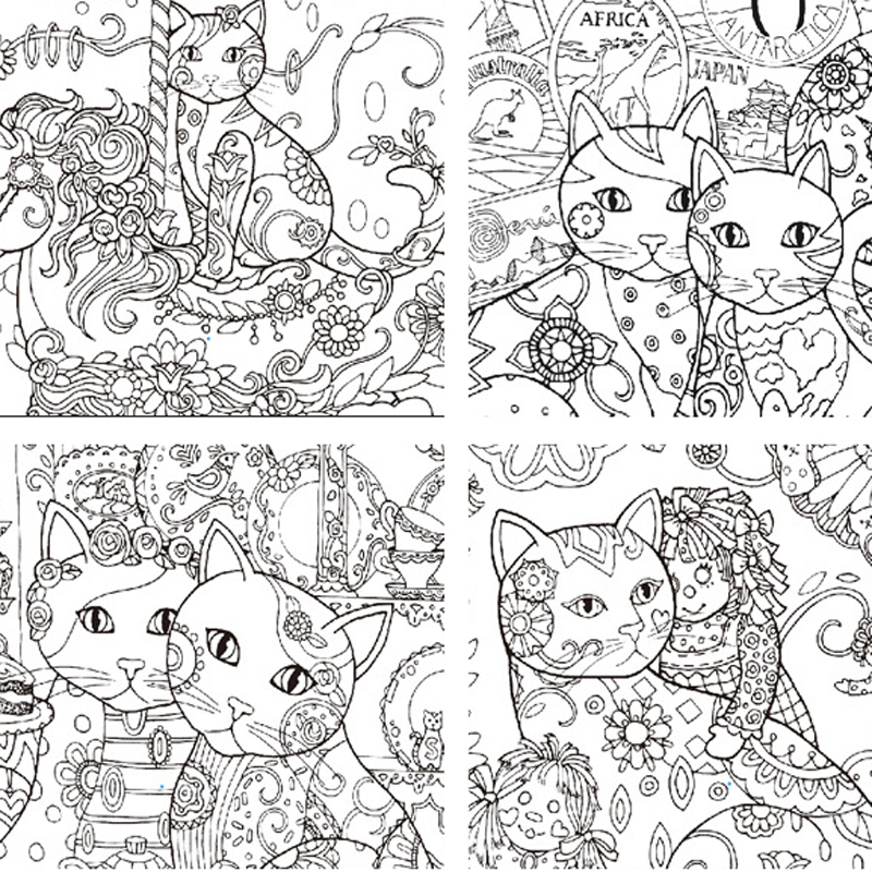 94 Cat Coloring Book For Adults