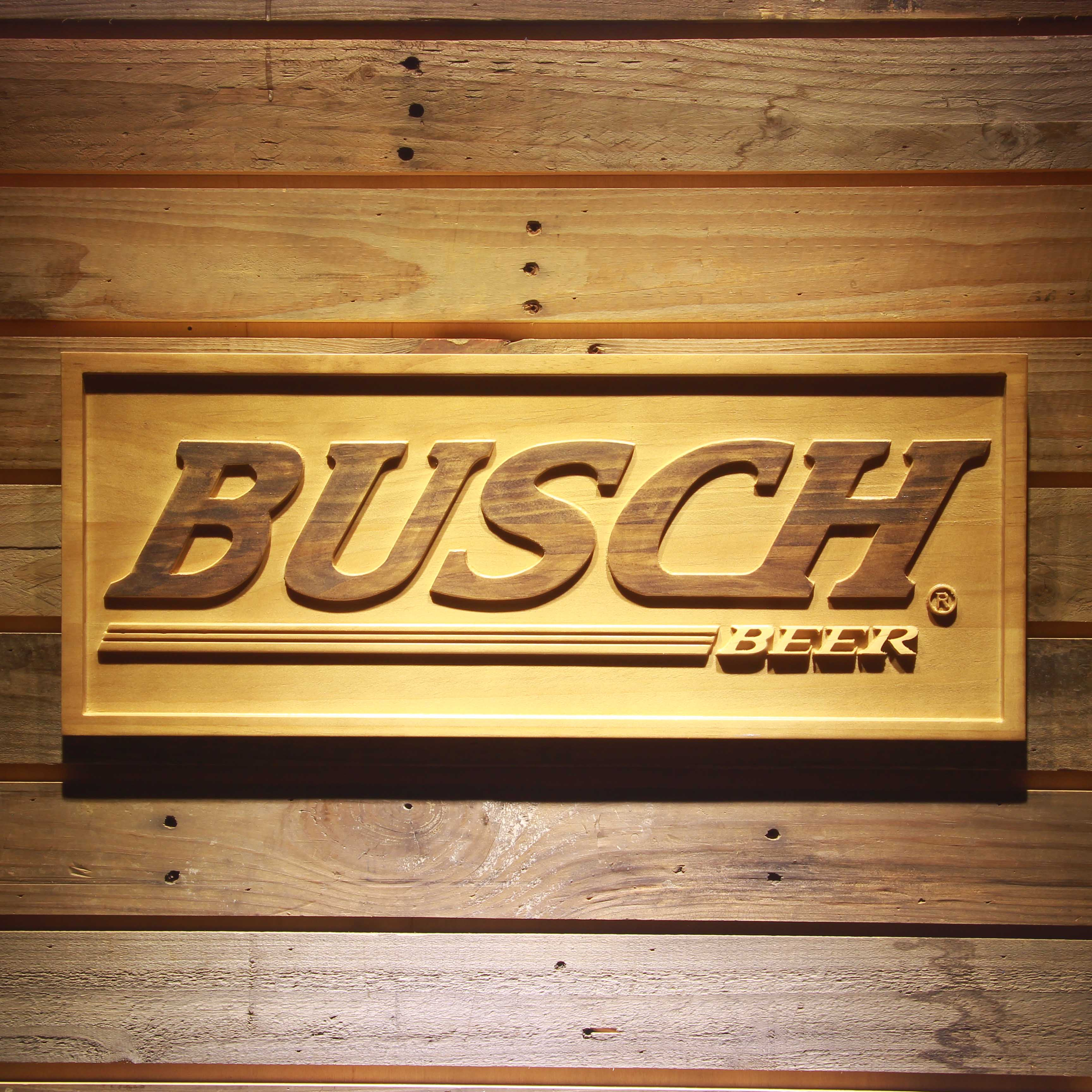Busch Beer 3D Wooden Signs