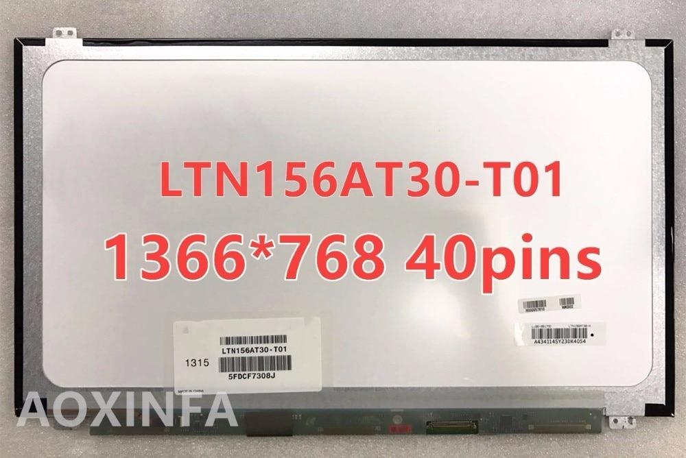 Free shipping B156XW04 V.5 B156XW04 V.6 LP156WHB TLA1 LP156WH3 TLS1 N156BGE-L31 N156BGE-L41 LTN156AT20 LTN156AT30 40PIN LCD SCR naturel пакеты для лотков одноразовые n1 naturel 16 шт