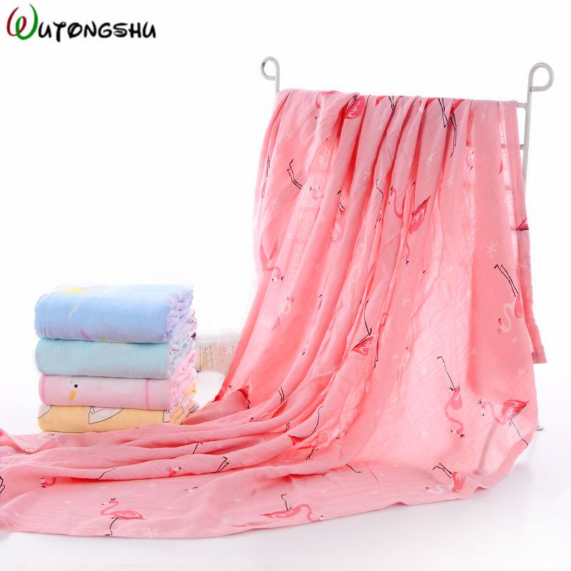 2Pcs/ Pack Bamboo Cotton Baby Swaddles Soft Bed Sheet For Newborn Wraps Baby Bath Towel Stroller Cover Muslin Baby Blankets