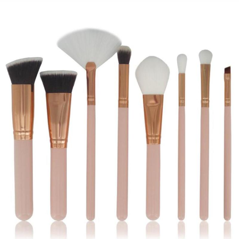 8Pcs/Set Brand Professional Foundation blush brush Eye Facial Makeup Powder Brushes Tool Set Beauty Cosmetics RP1-5 professional 15pcs set facial makeup brushes set eyeshadow eye make up brush beauty blush powder foundation cosmetic brush tool