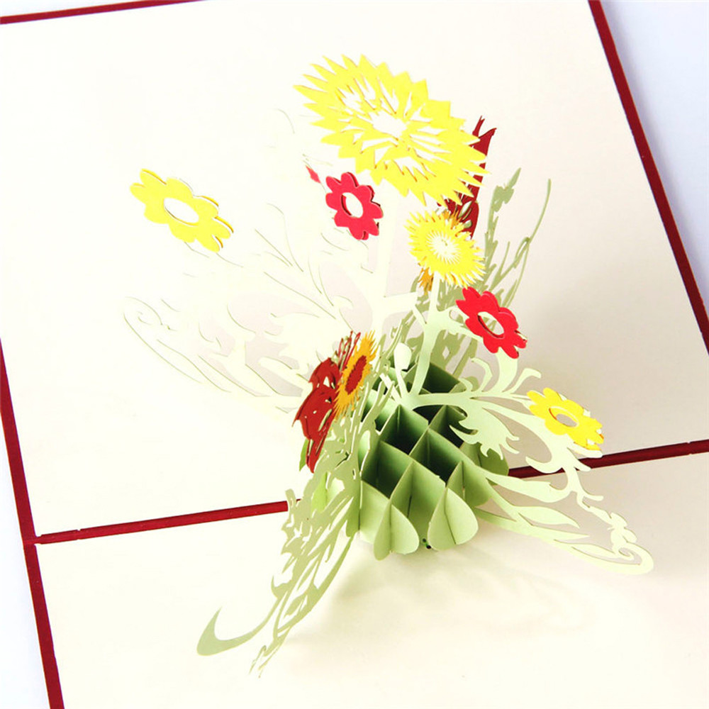 3 де открытки с цветами
