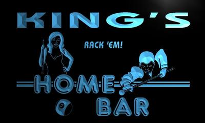 x1030-tm Kings Home Bar Pool Room Custom Personalized Name Neon Sign Wholesale Dropshipping On/Off Switch 7 Colors DHL
