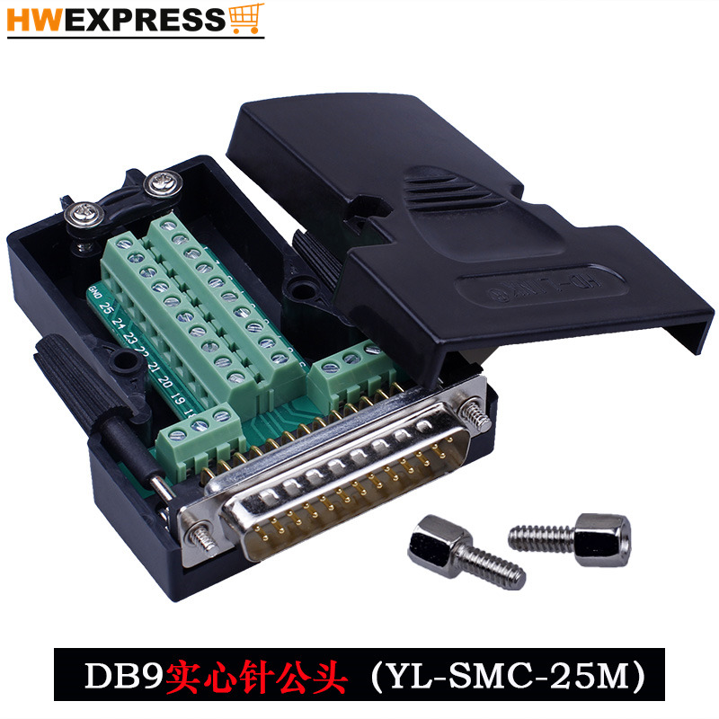 DB9 DB15 DB25 Needle VGA General Head Mother Head Connector Avoid Weld Joint Serial Port Head COM Mouth 9 Needle 5pcs db15 pin male welded connector vga plug serial port db15 adapter 3 row foot