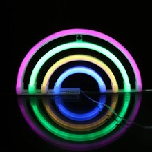 JSEX LED Neon Lamp Night Light Fairy Lights Decorative Wall Lamps RGB/Warm white USB with Battery Home Decoration