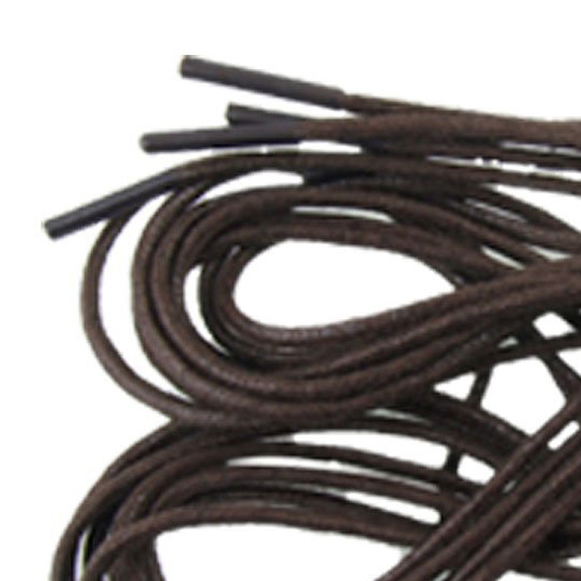VSEN 2pcs Style4 Pcs 69cm Brown Shoelace Shoestring for Leather Shoes