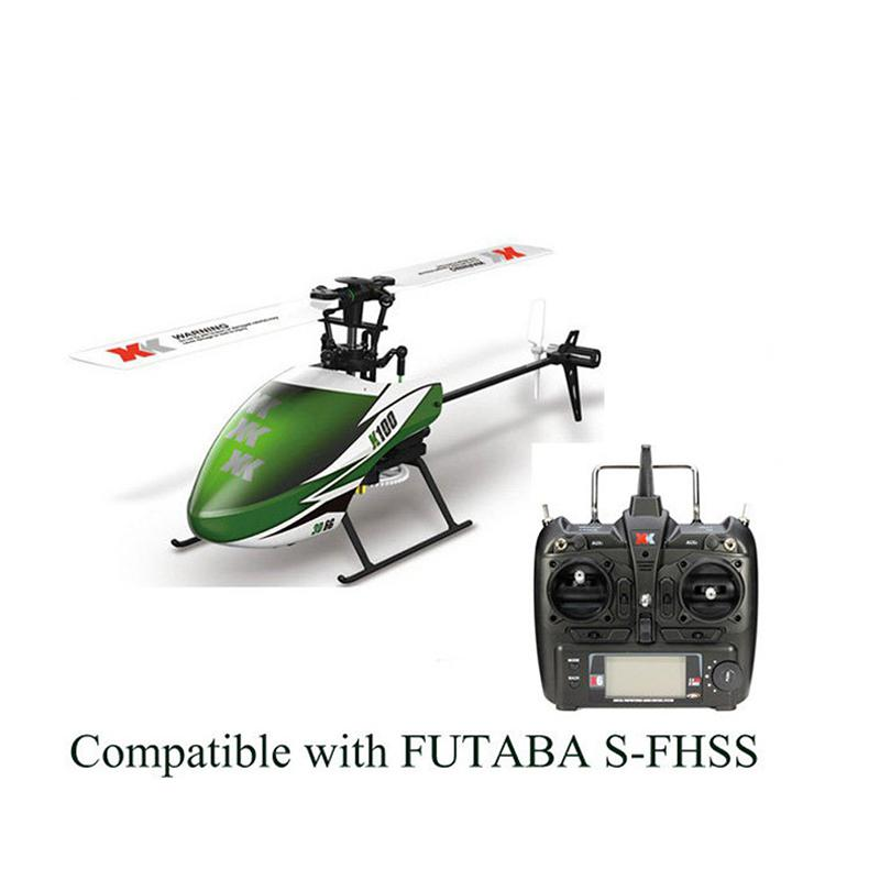LeadingStar XK K100 6CH 3D 6G System Brushless Motor RC Helicopter xk k100 falcom 6ch rc helicopter parts 3 7v 250mah battery