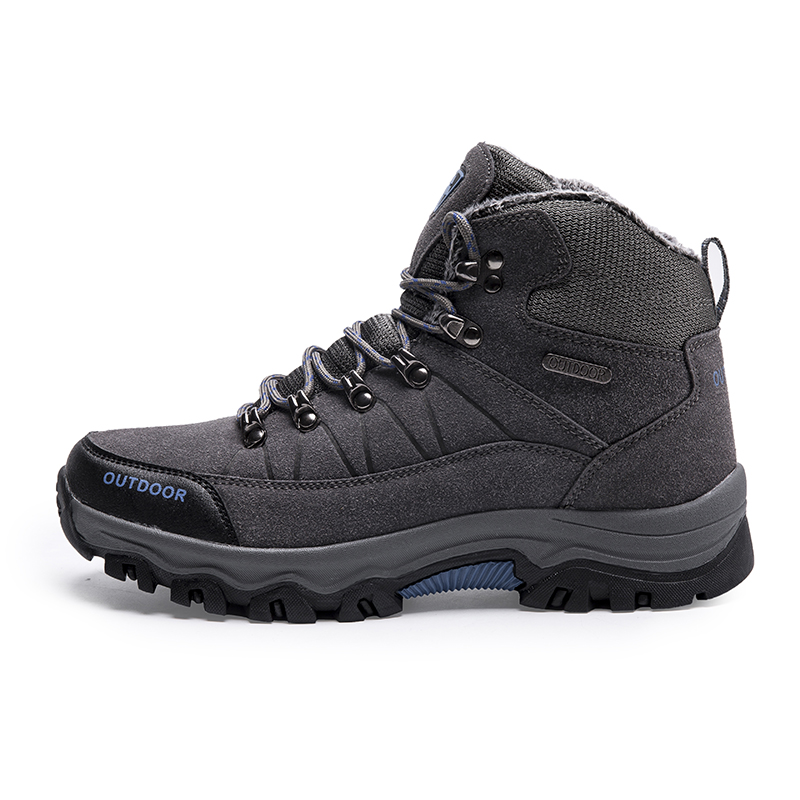 Купить с кэшбэком Super Warm Men Winter Boots Quality Suede Leather Men Boots Fur Plush Snow Boots Winter Shoes For Men Outdoor Boots Shoes