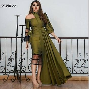 New Arrival Taffeta Dubai Kaftan Evening dress 2020 prom dresses abiye abendkleider Arabic Evening gown Abiye Formal dress party