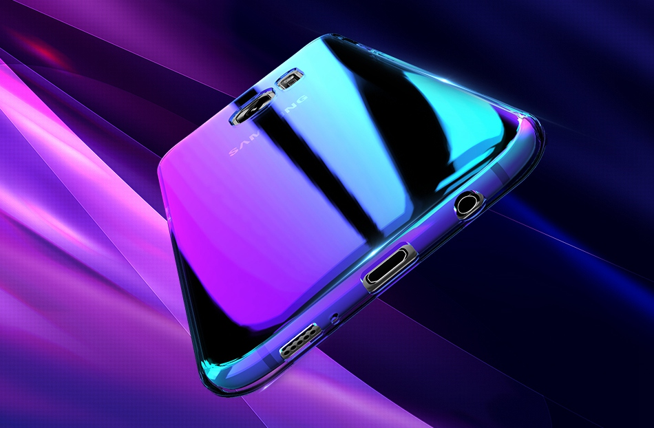 Blue Light Cover For Samsung S8 Case Galaxy S8 Plus Gradient Aurora Phone Cases For Samsung S8 S7 S6 Edge (1)