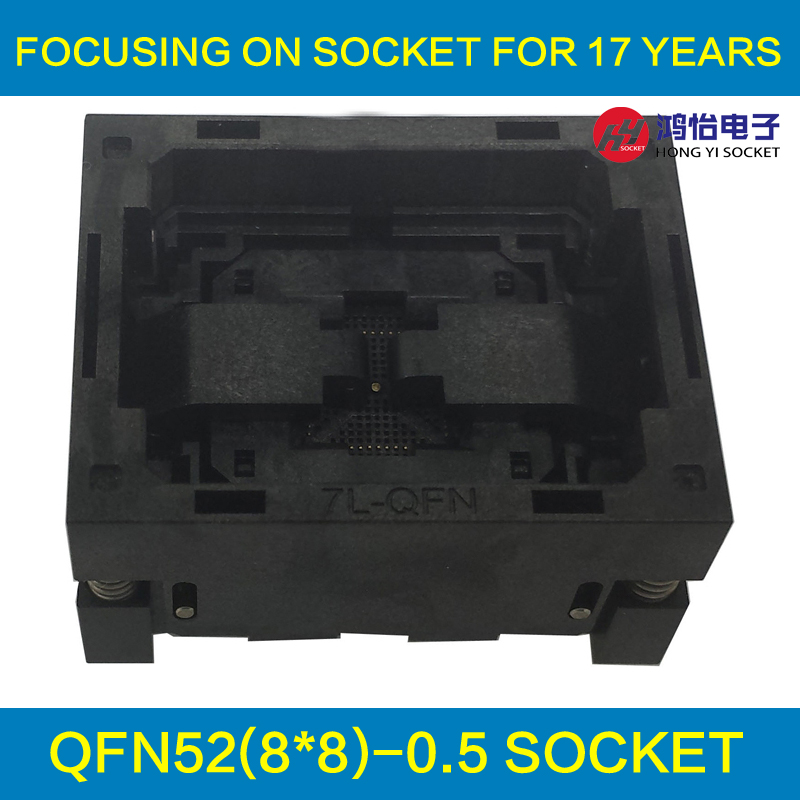 QFN52 MLF52 NP506-052-065-C-G Burn in Socket IC Test Socket Opentop Chip Size 8*8 Programming Socket Flash Connector Wholesale free shipping sop32 wide body test seat ots 32 1 27 16 soic32 burn block programming block adapter