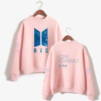 LUCKYFRIDAYF BTS Love Yourself Kpop Hoodies Sweatshirts Bangtan Boys K Pop Hip Hop Turtleneck Clothes Women