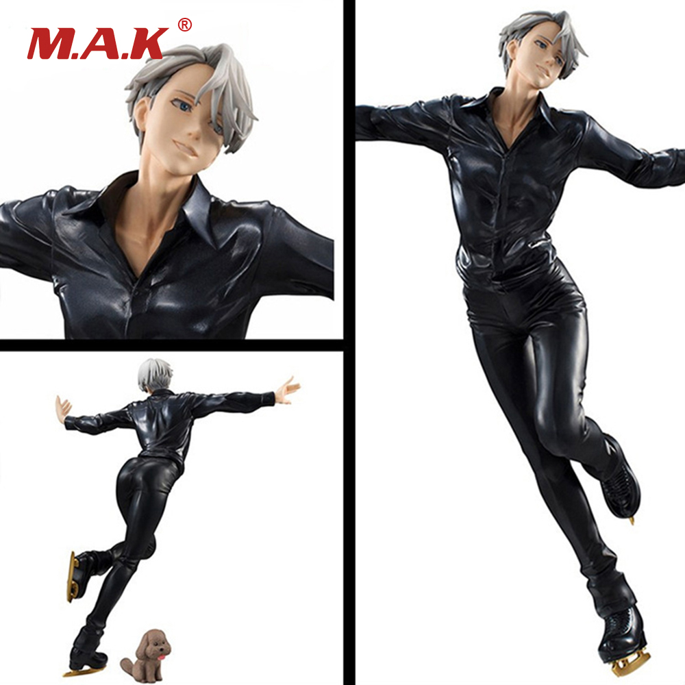 23CM PVC Yuri On Ice Anime Action Figures Victor Nikiforov Models Toys Collections Kids Gifts with Color Box anime yuri on ice yuri victor phichit kenjiro q version pvc figures collective model toys 6pcs set 5cm
