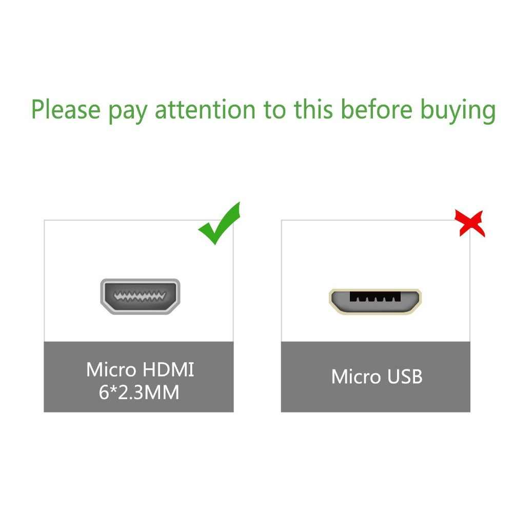 Haute vitesse 30 cm 50 cm 3ft 1m2m6ft 3 m 10ft 5 m V1.4 mâle à mâle HDMI à Micro HDMI câble 1080 p 1440 p pour HDTV PS3 XBOX 3D LCD
