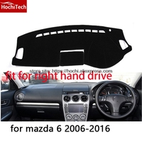 For Mazda 6 2006 16 Right Hand Drive Dashboard Mat Protective Pad Black Red Car Styling